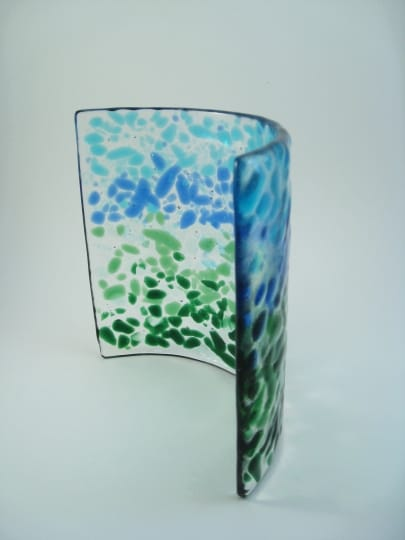Fused Glass Candle Shelter