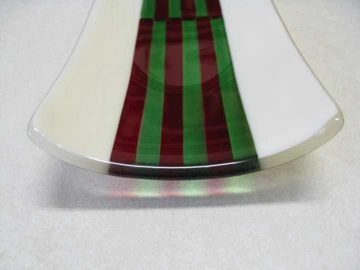 Fused Glass Channel Plate Stripes