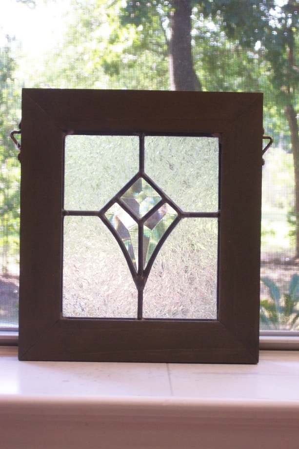 Flower Beveled Stained Glass Panel