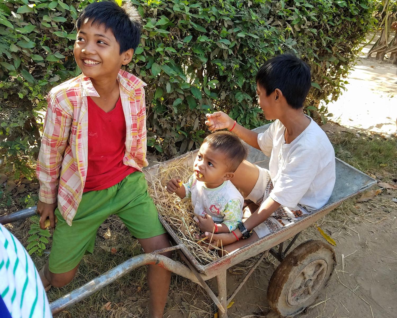 Children along the Mekong