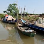 Boats along the Mekong