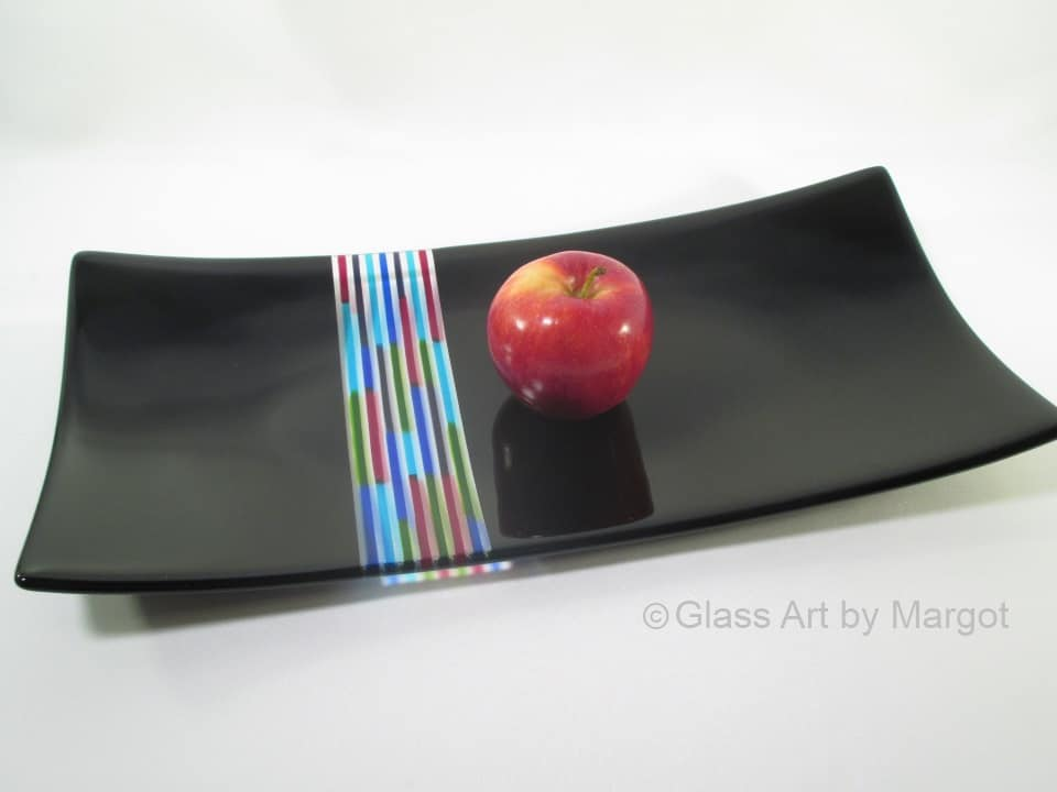 Fused Glass Tray Jolly Rancher