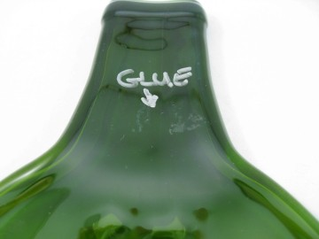 Recyled Wine Bottle - Glue Residue