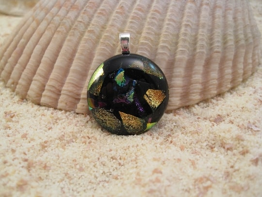 Round Fused Glass Pendant
