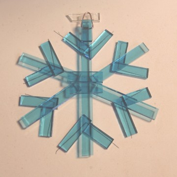 Let it Snow! Fused Glass Snowflakes | Glass Art by Margot