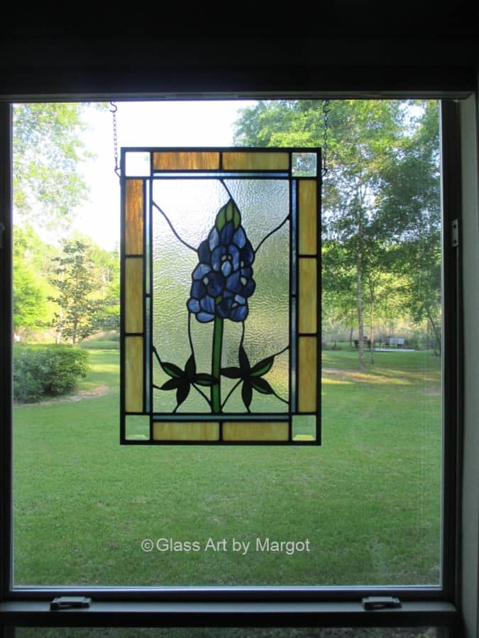 Stained Glass Bluebonnet