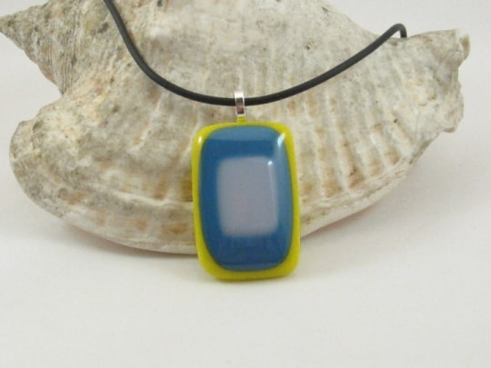 Fused Glass Pendant - Summer
