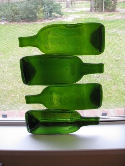 fused glass bottles 1