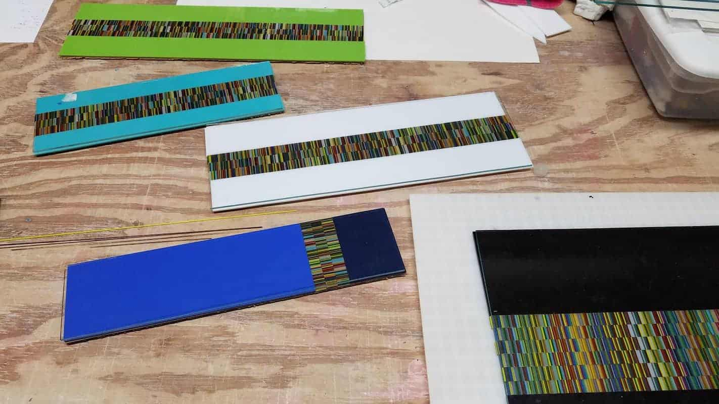 Fused Glass Stringer Part Sheet  Combinations