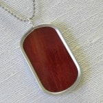 Red Stained Glass Dog Tag