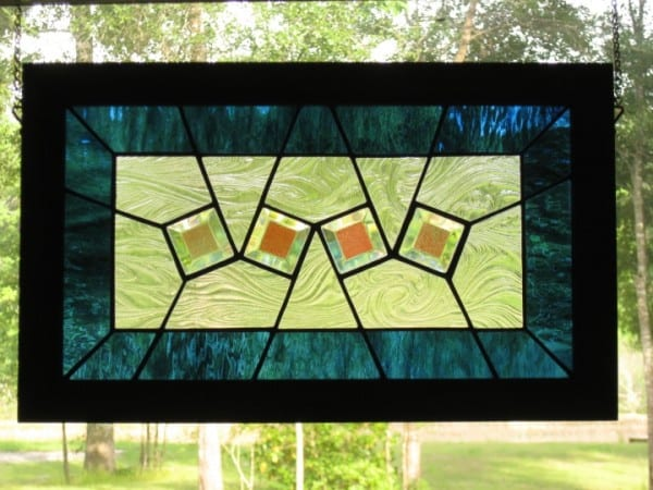Stained Glass Beveled Panel