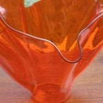 Fused Glass Handkerchief Vase