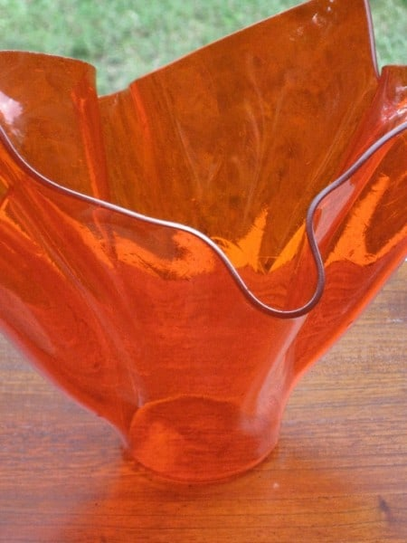 Fused Glass Handkerchief Vase