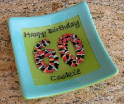 Happy Birthday Fused Glass Plate