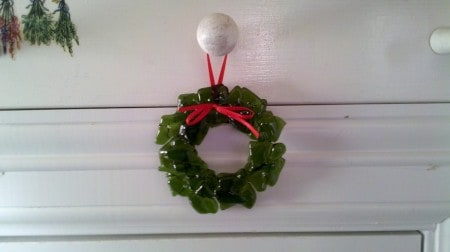 Fused Glass Holiday Wreath