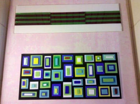 Fused Glass Pieces in the Kiln