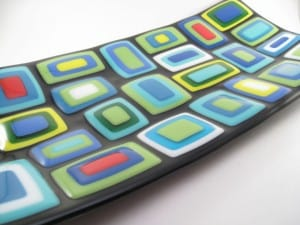 Fused Glass Stacked Plate