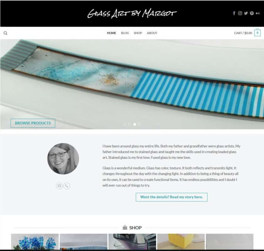 New Glass Art by Margot Website and Shop