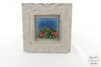 framed fused glass