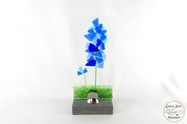 Fused Glass Bluebonnet